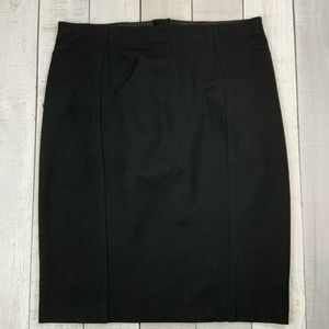 Ann Taylor black stretch career pencil skirt